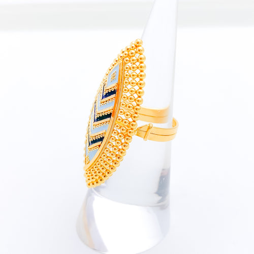 Opulent Marquise Gold Ring