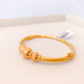 Modern Yellow Gold Bangle Bracelet