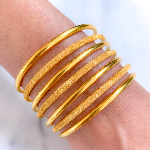 INTERCHANGING GOLD BANGLES