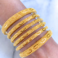 Refined Gold Bangles