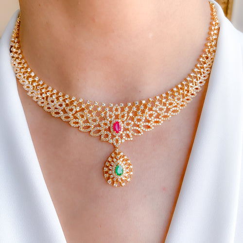 Stylish CZ Necklace Set