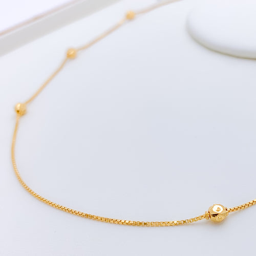 Glamorous Yellow Gold Chain Necklace - 18""