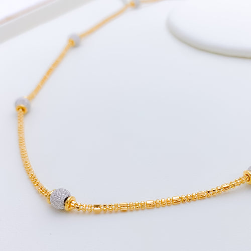 Luxurious Two-Tone Chain Necklace - 18""