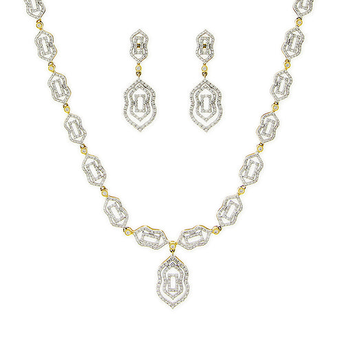 Two-tone Diamond Necklace