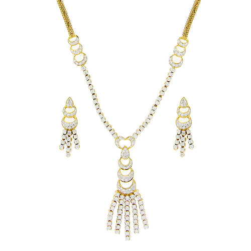 String Diamond Necklace Set