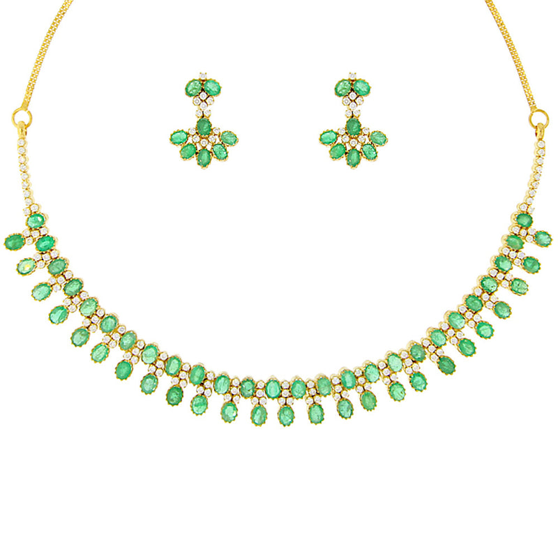 Emerald and Diamond Necklace Set