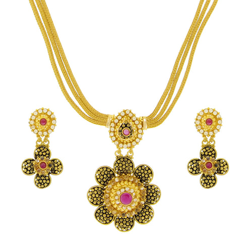 Parap and Ruby Necklace Set