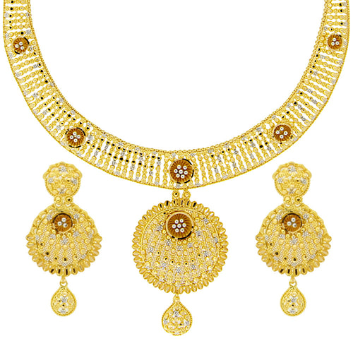 Two-tone Filgiri Necklace Set