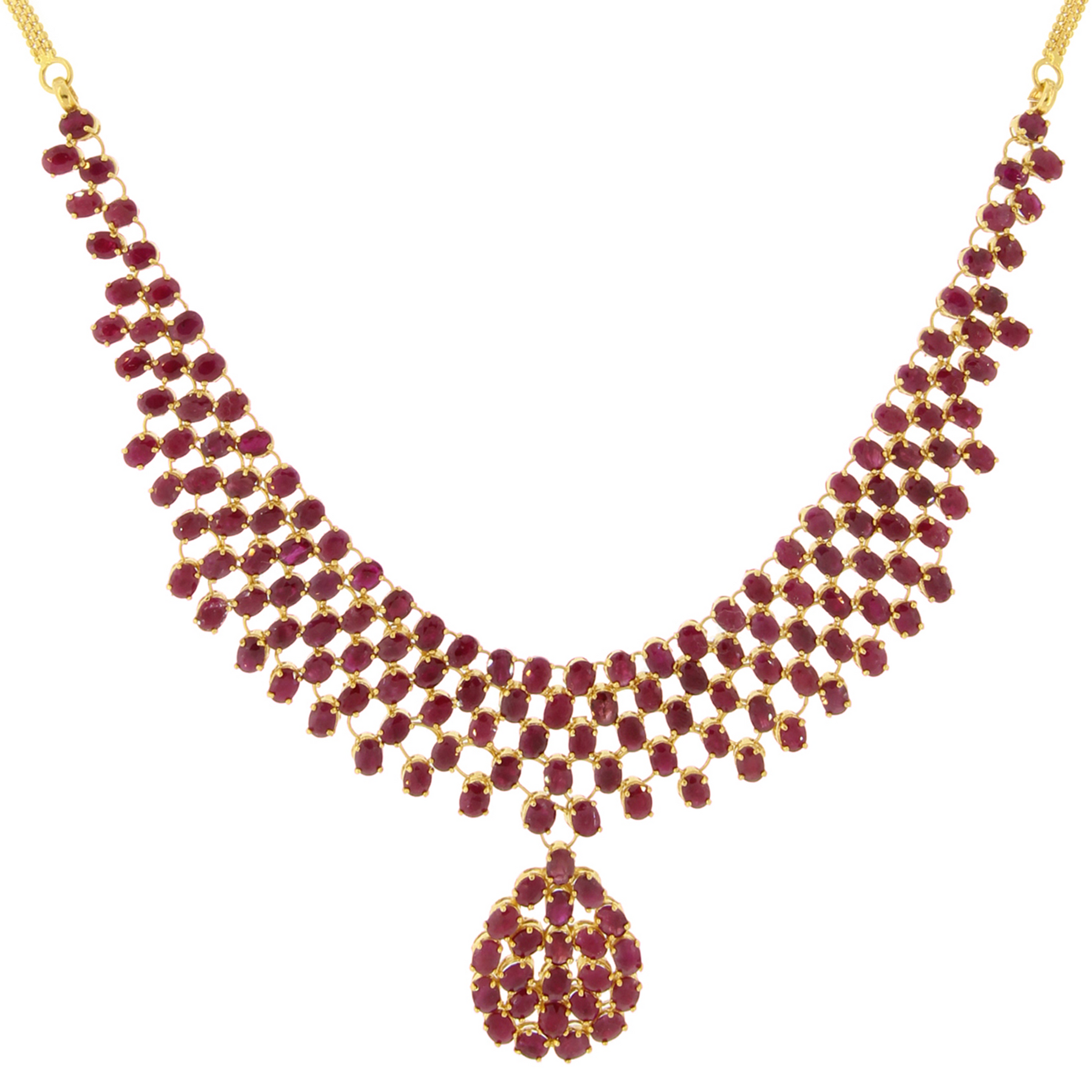 gold vine necklace branch white pendant and diamond ruby in