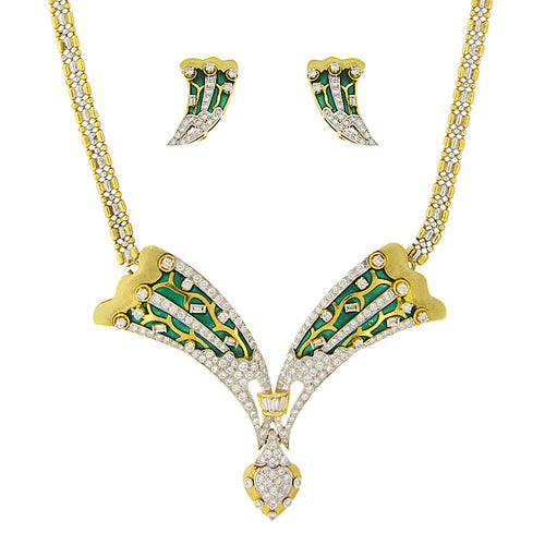 Meena Diamond Necklace Set