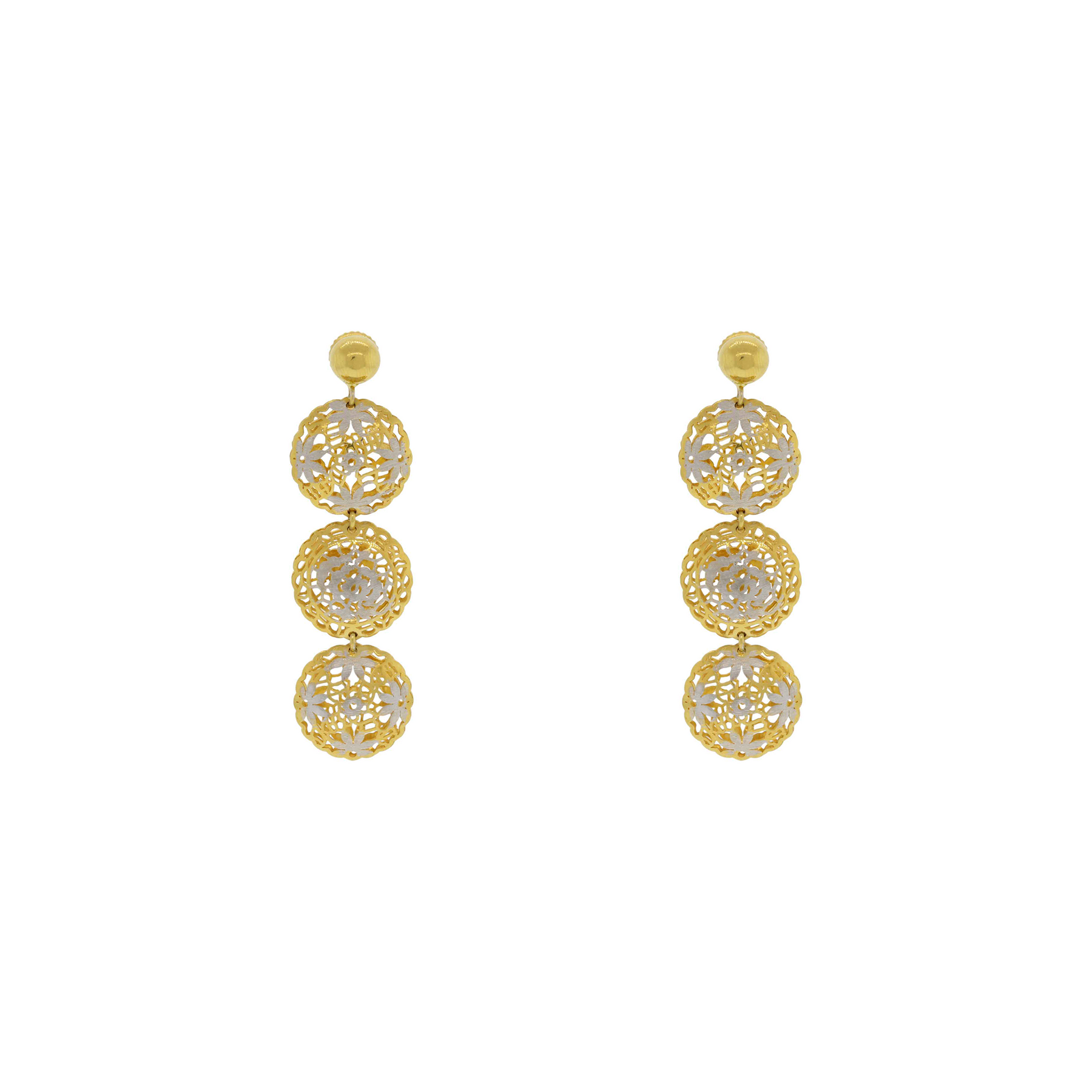 italian ct rose img gold white product in earrings and made