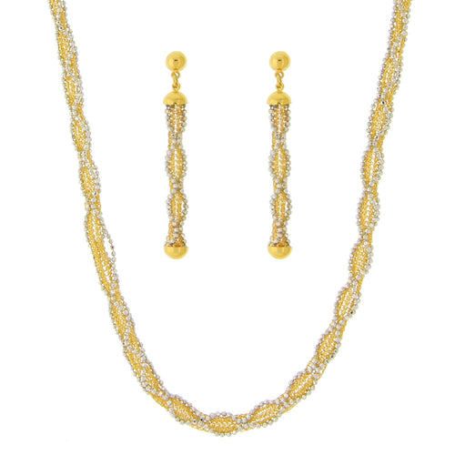 Italian Two-tone Necklace Set