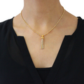 Two-Tone Hanging Necklace Set