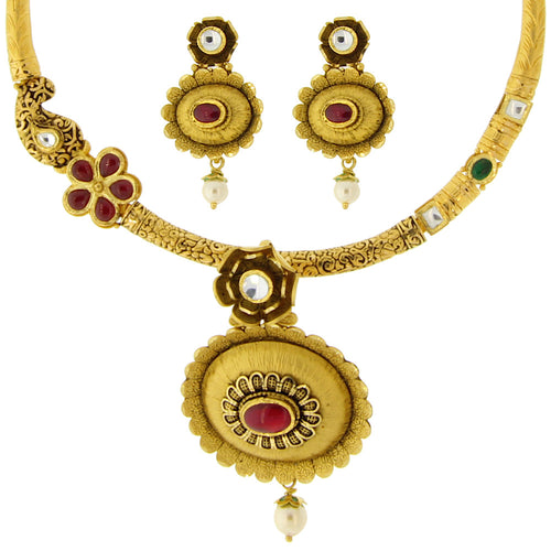 Kundan Hansil Necklace Set