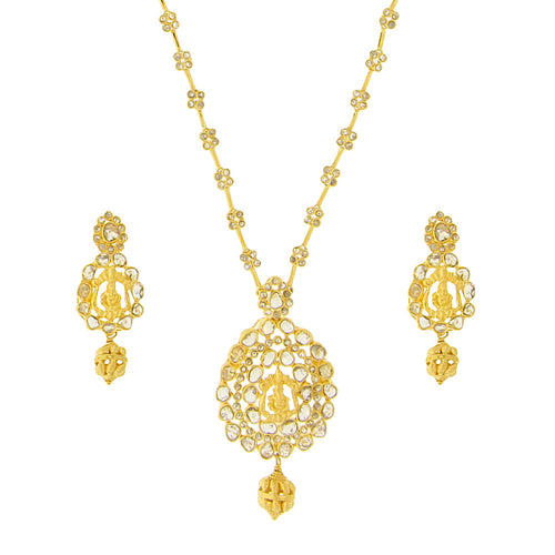 Ganesha Polki Necklace Set