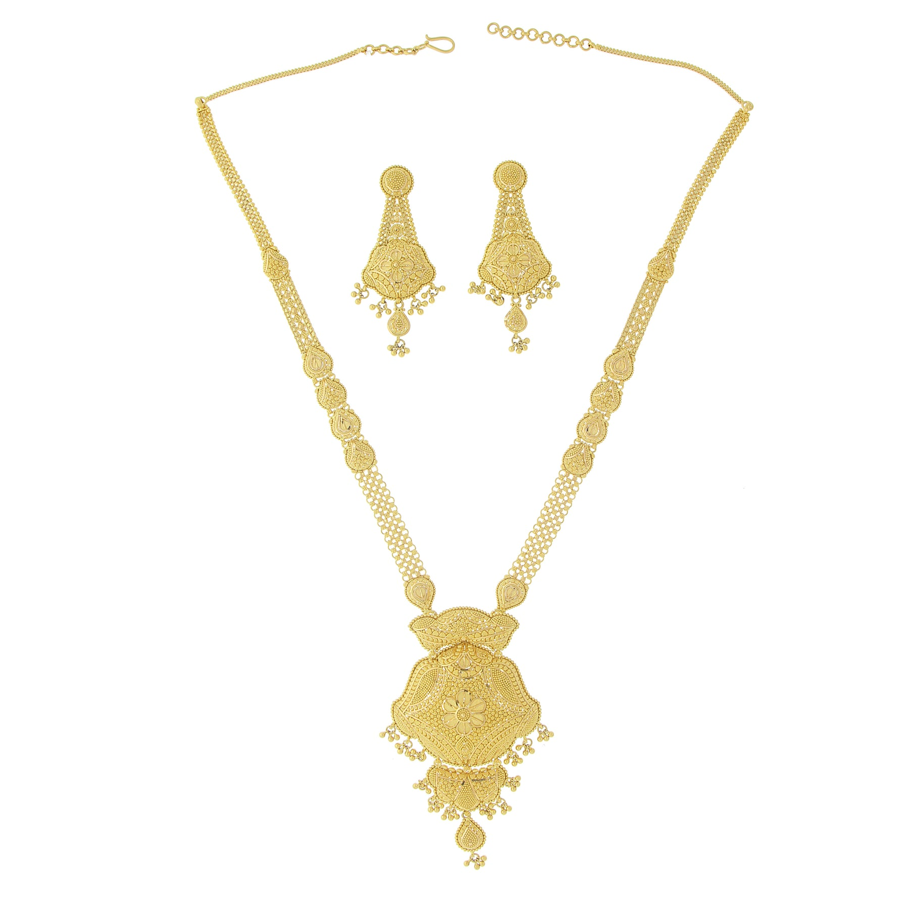 3 PIECE LONG GOLD NECKLACE SET – Andaaz Jewelers