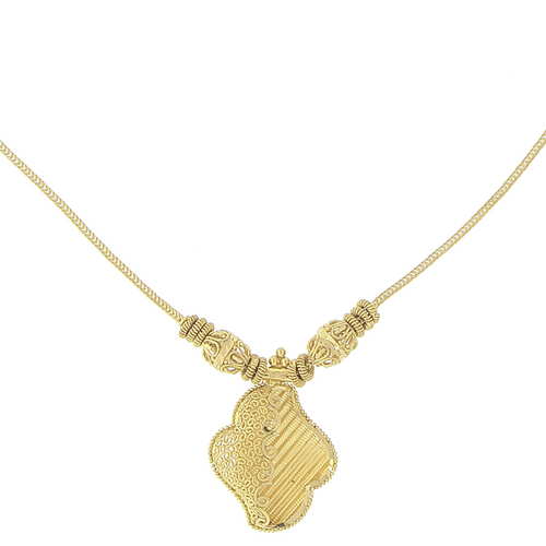 3 Piece Plain Gold Necklace Set