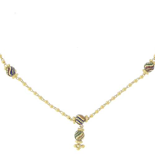 3 PIECE GOLD NECKLACE SET