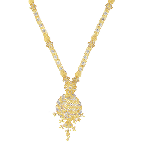 2-TONE LONG GOLD NECKLACE SET