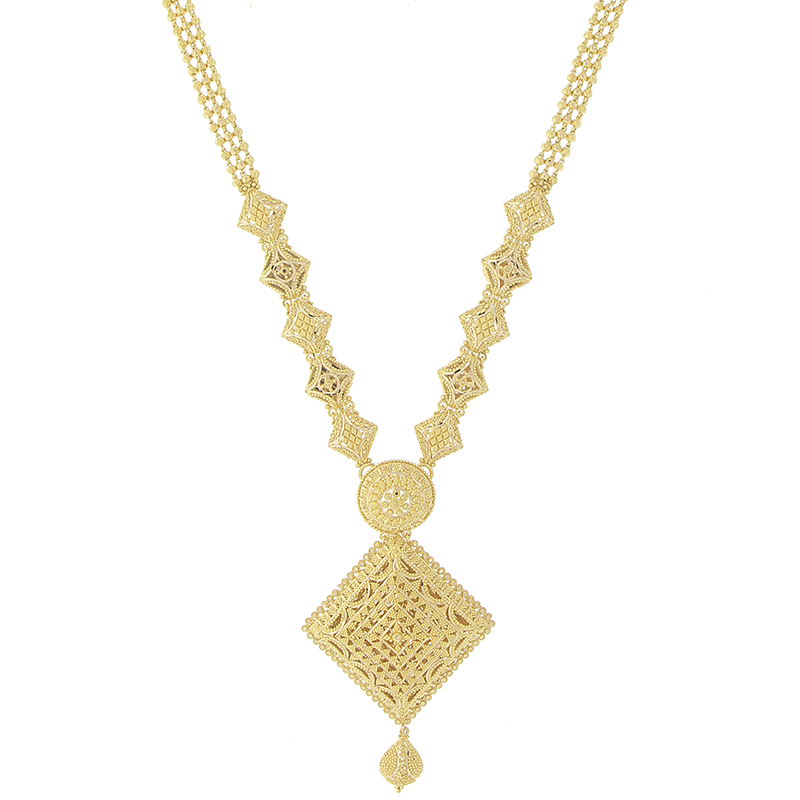 3 PIECE LONG GOLD NECKLACE SET