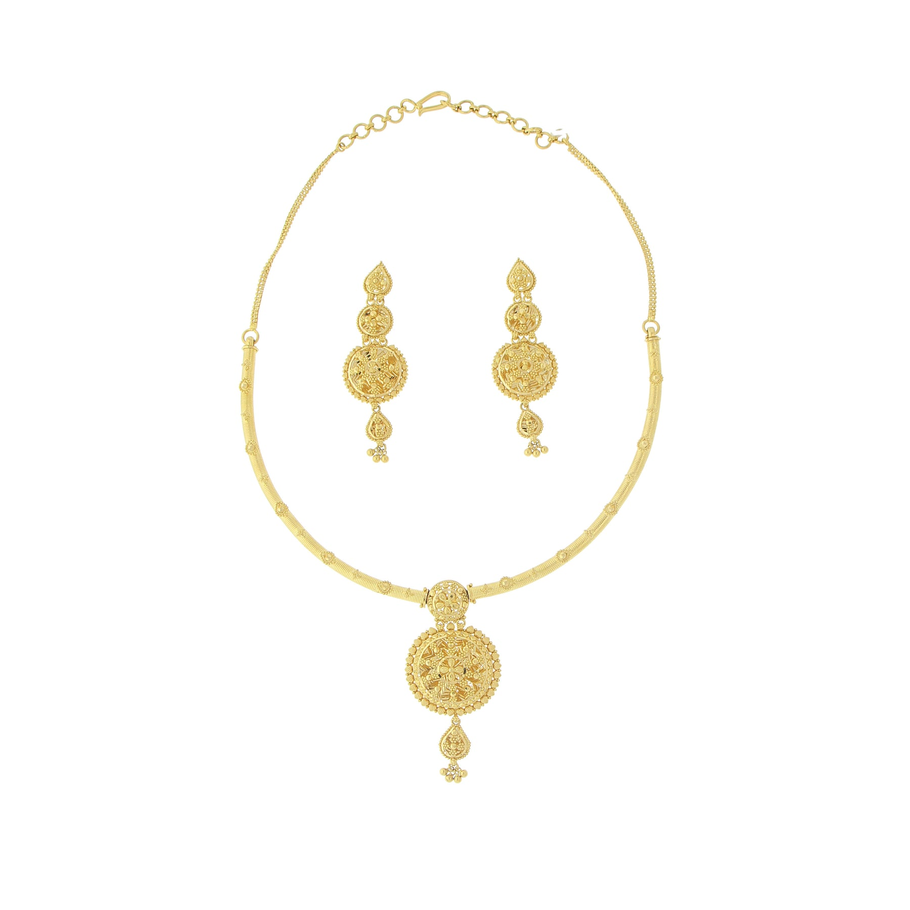gold long products piece n set andaaz jewelers necklace