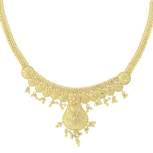 3-PIECE PLAIN GOLD NECKLACE SET