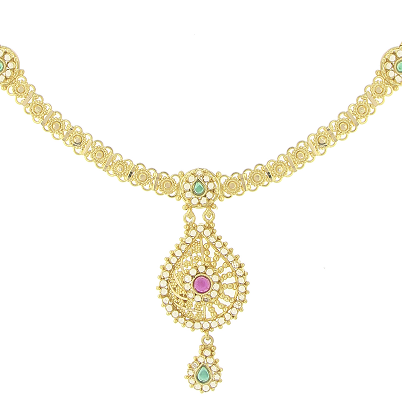 GOLD PARAB NECKLACE SET