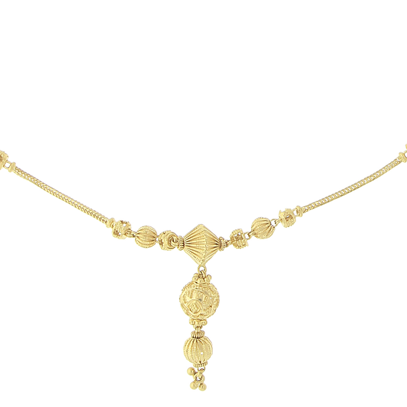 three cluster gold dogeared wishes dipped necklace