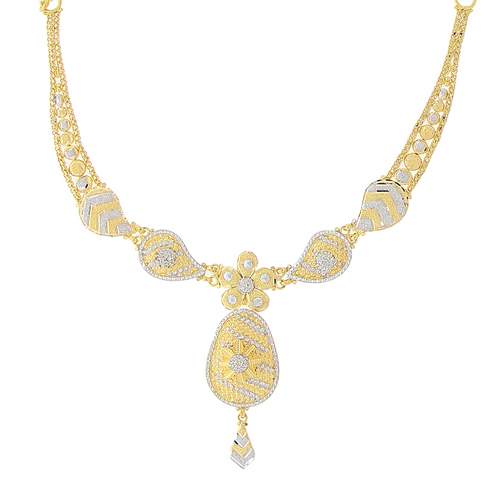 2-TONE GOLD NECKLACE SET
