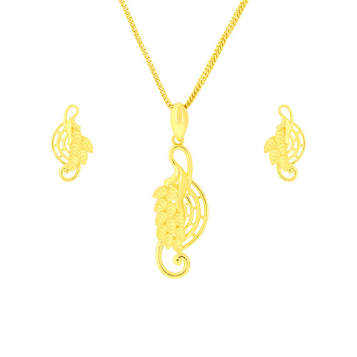 Hanging Leaf Pendant Set
