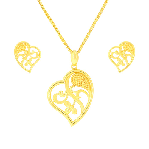 Heart of Gold Pendant Set