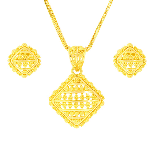 Squared Beaded Pendant Set
