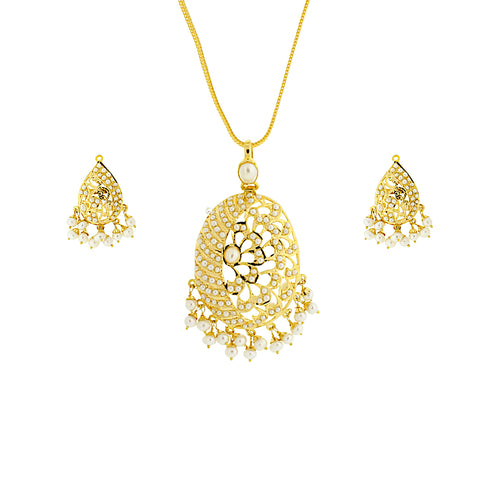 Oval-shaped Pendant Set