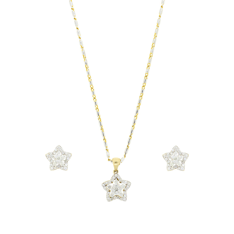 Star Diamond Pendant Set