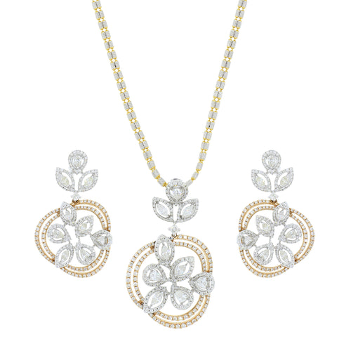 Exquisite Diamond Pendant Set