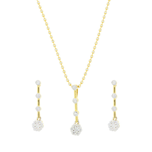 4 Tier Diamond Pendant Set
