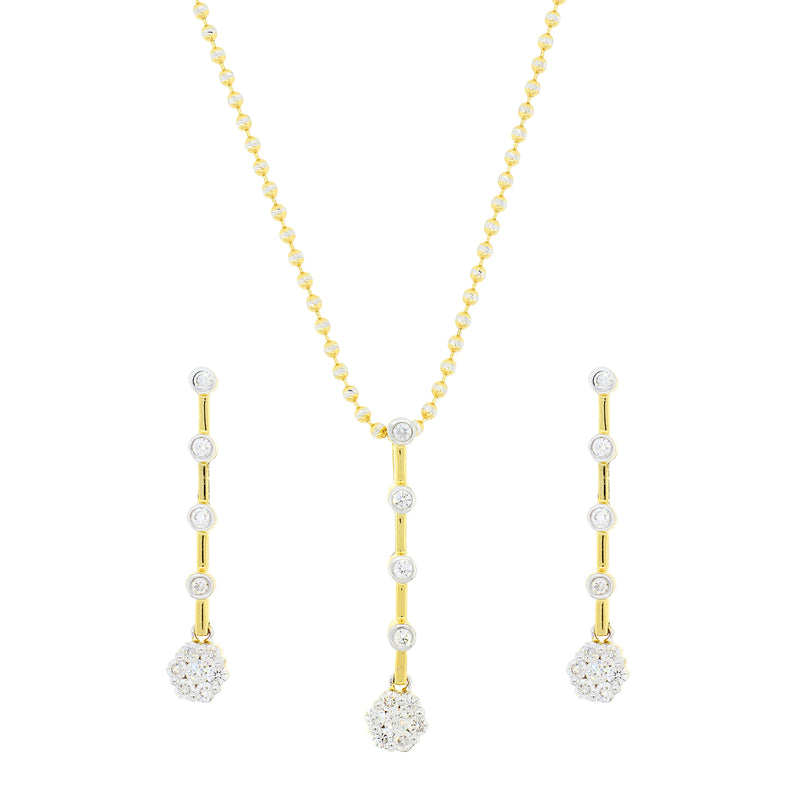 5 Tier Diamond Pendant Set