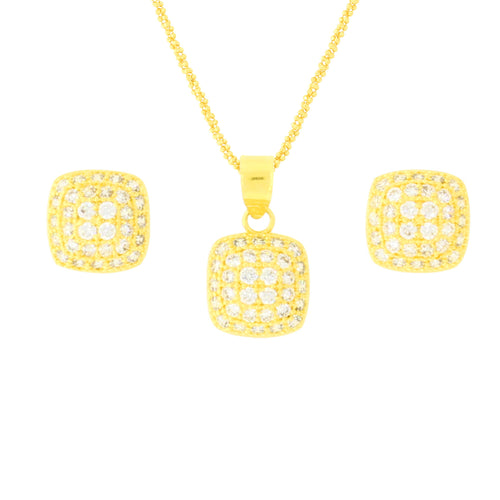 Small CZ Pendant Set
