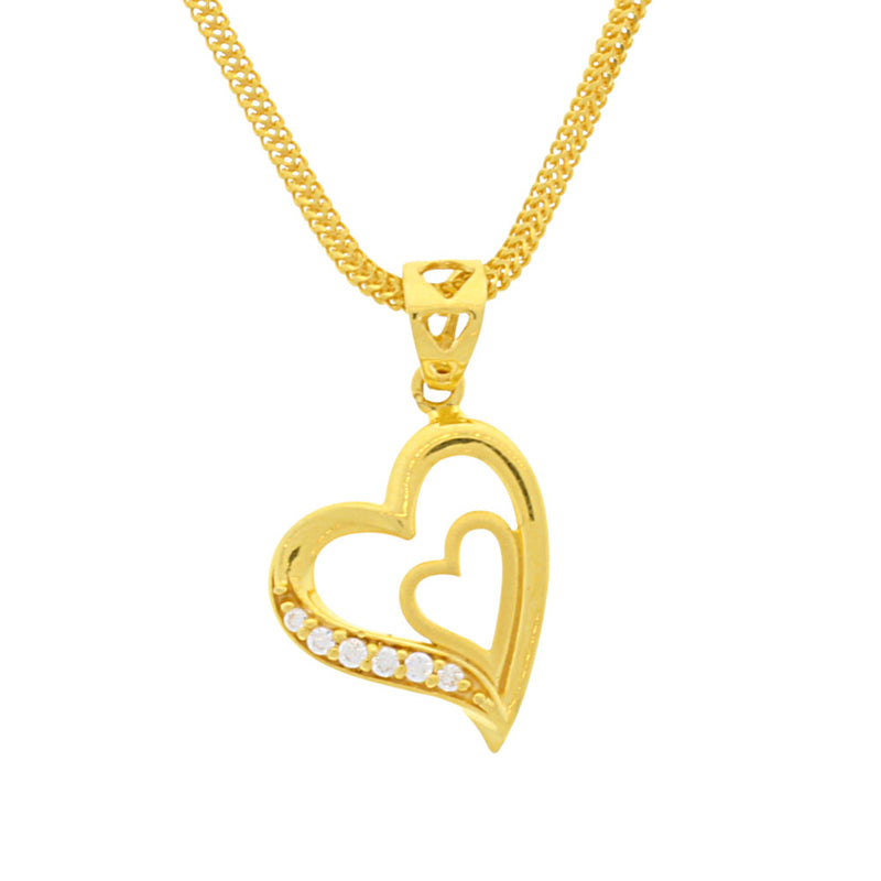 Double Love Heart Pendant