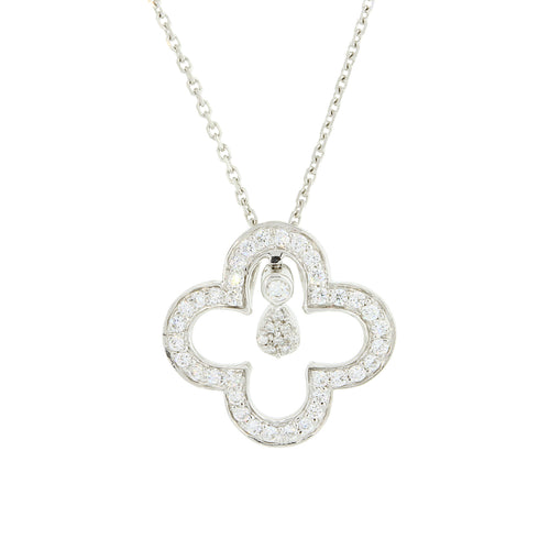 Four-leaf Diamond Pendant