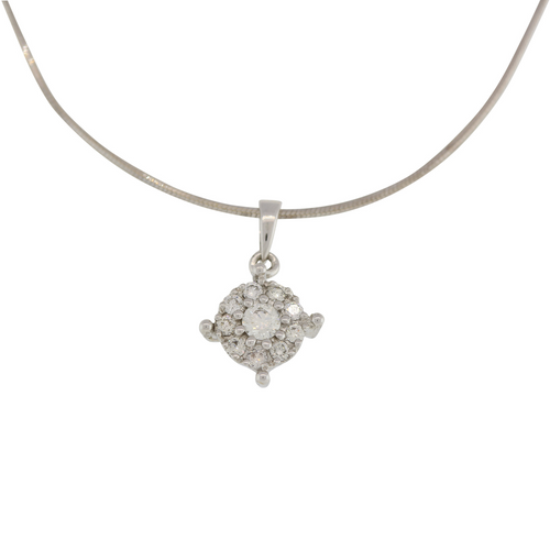 DIAMOND PENDANT WITH CENTER SOLITAIRE