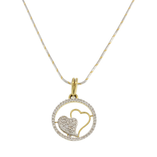 DIAMOND PENDANT WITH HEART DESIGN