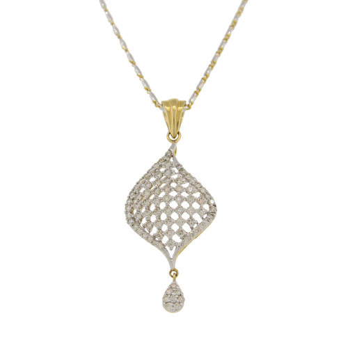 DIAMOND PENDANT WITH SMALL DROP