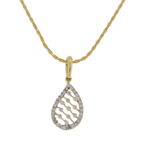 Tear Shaped Diamond Pendant