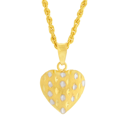 TWO-TONE REVERSIBLE HEART PENDANT
