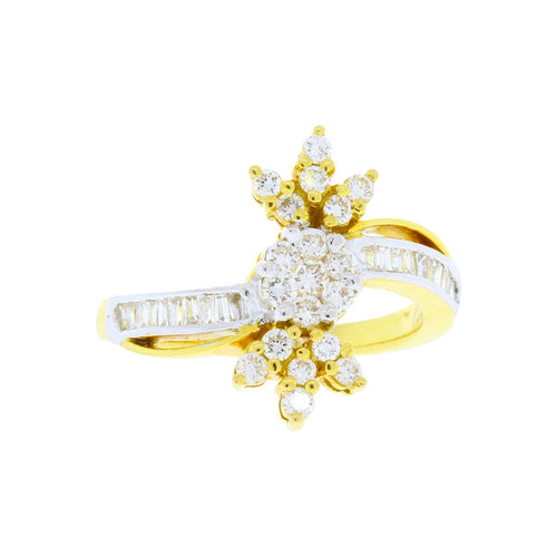 Crowned Cluster Diamond Ring