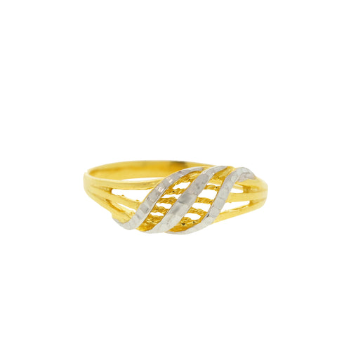 Contemporary Two Tone Ring