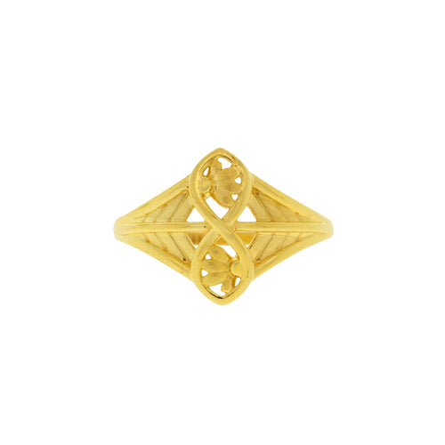 Matte Finish Gold Ring