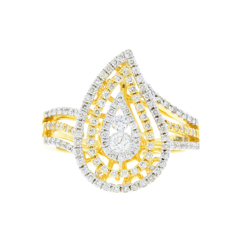 Statement Flame Diamond Ring