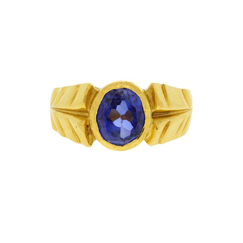 Sapphire Gold Ring